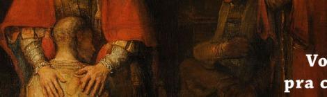 """Detalhe de """"O Retorno do Filho Pródigo"""" de Rembrant."""